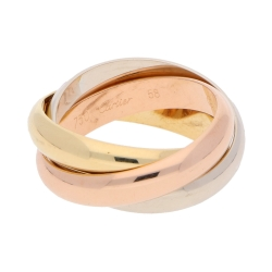 "Cartier ""Trinity"" Ring in 750er Tricolor Gold"